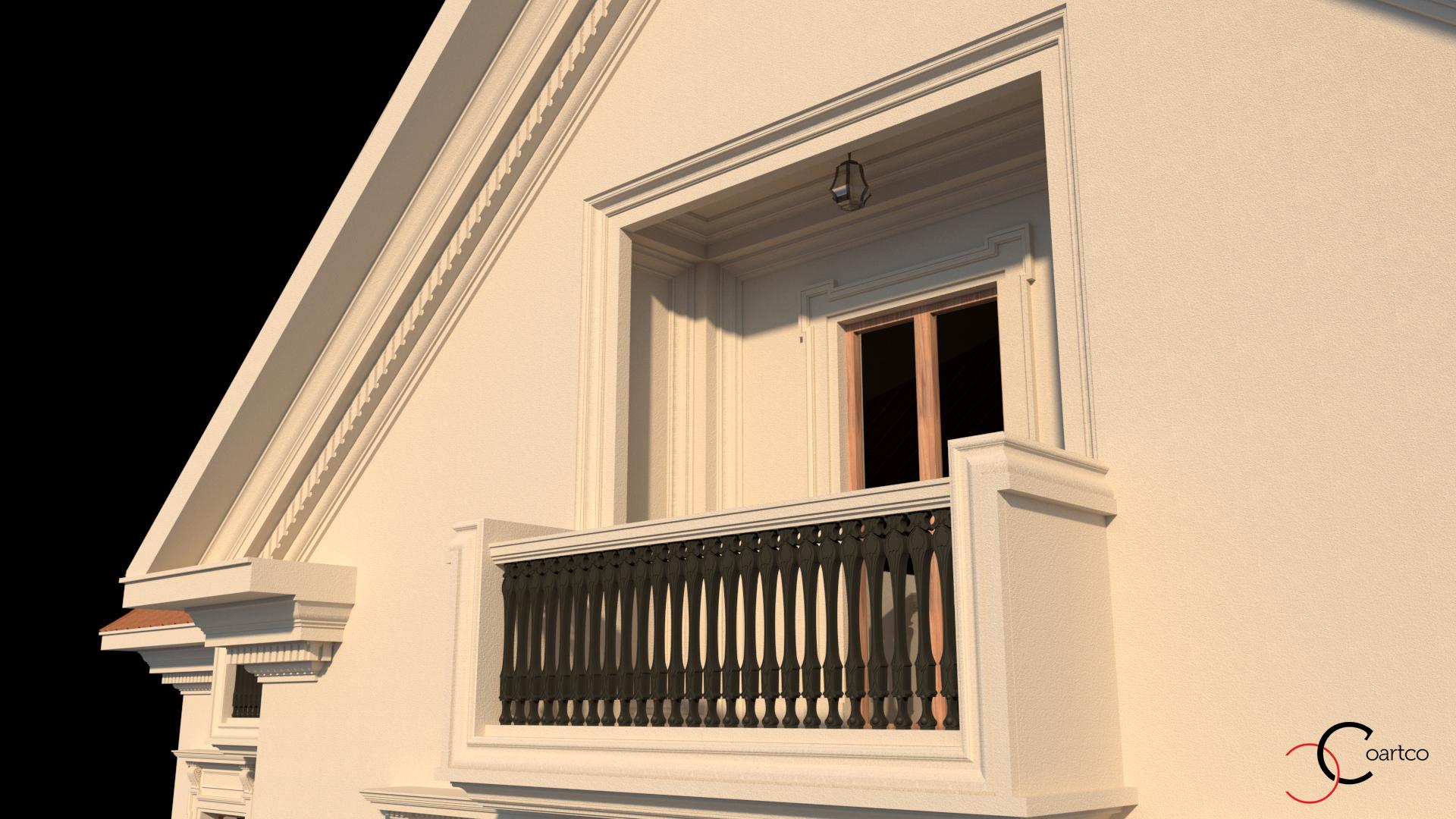 balconul-casei-si-cornisa-cu-model-clasic
